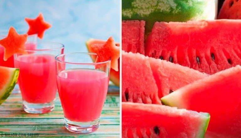 Vattenmelon är vätskedrivande