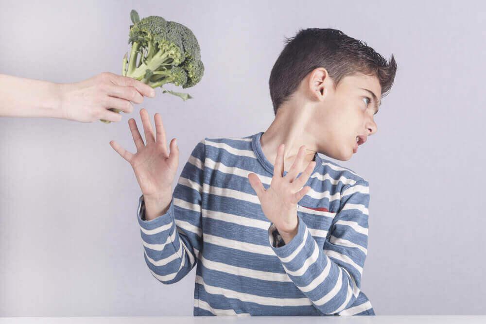 Pojke som inte vill ha broccoli