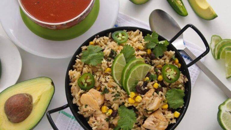 Grönt ris passar bra ihop med många andra rätter