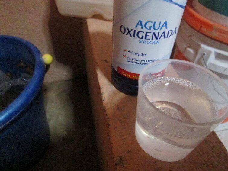 Syresatt vatten verkar blekande