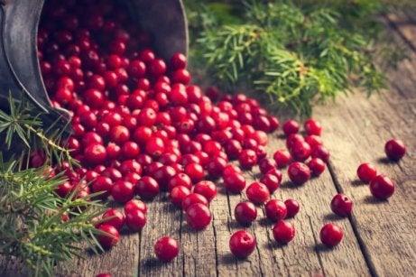 Tranbär mot hudsvamp