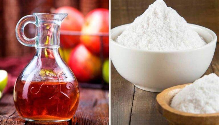 Bakpulver och äppelcidervinäger är en bra kombination