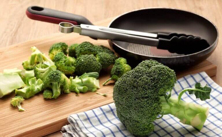 Broccoli i recept med gurkmeja