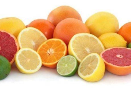 Citrusfrukter med fibrer