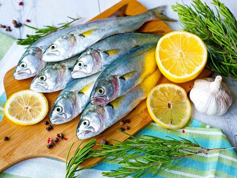 Citron och fisk