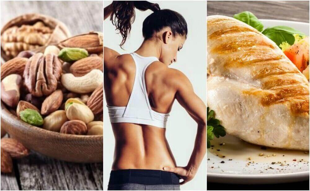 En effektiv diet för att tona dina muskler och komma i form