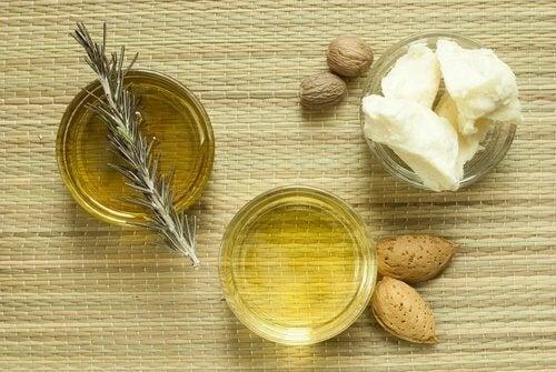 Ister och mandelolja är fuktgivande för huden.