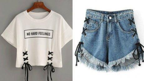 Kläder med snörning