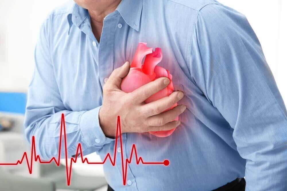 Man med hjärtproblem