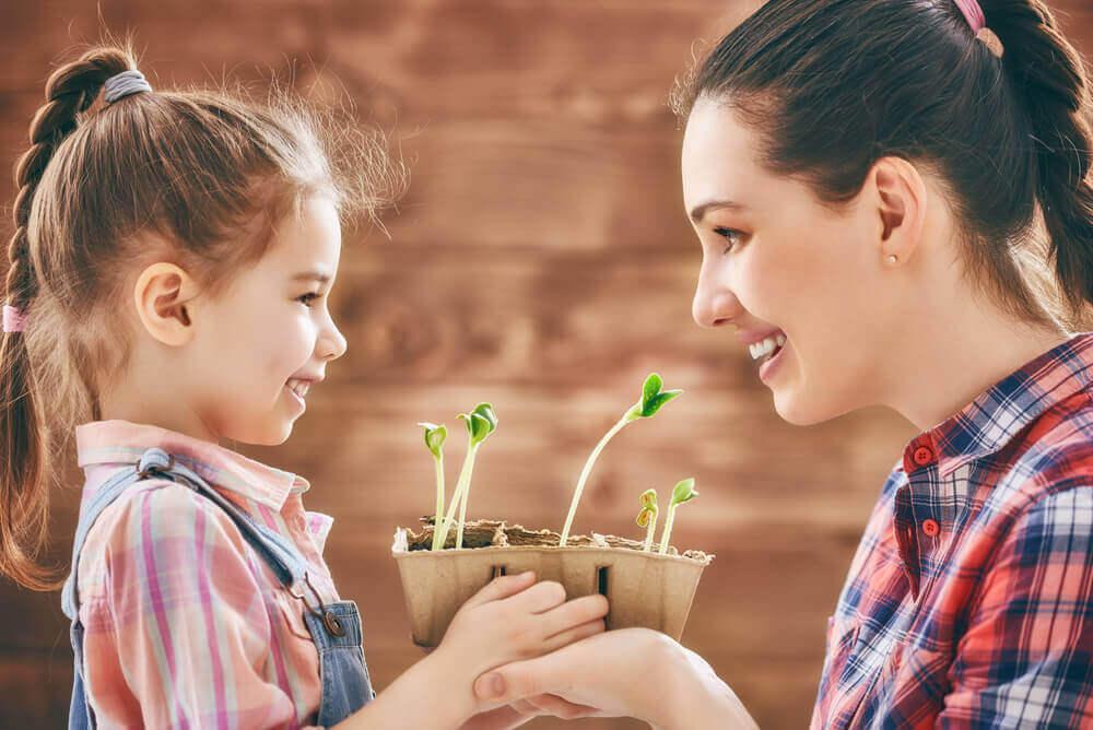 Plantera blommor med dina barn