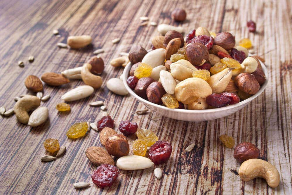 Nötter och russin.