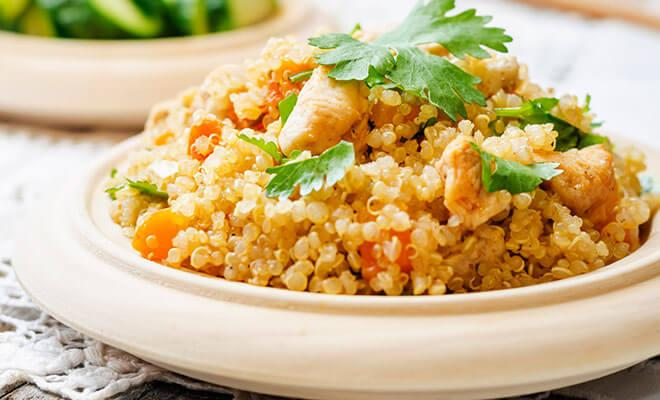 Quinoa med kyckling