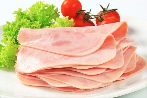 Skinka och grönsaker