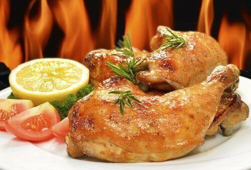 Ugnsbakad kyckling