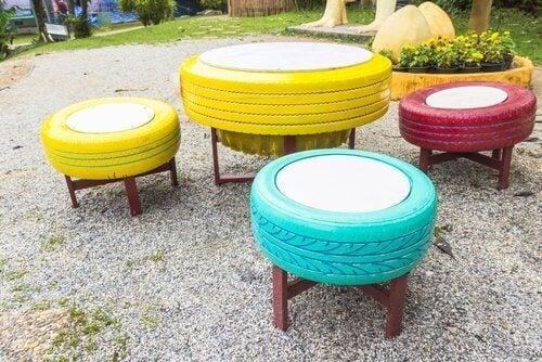 8 sätt att återanvända gamla däck