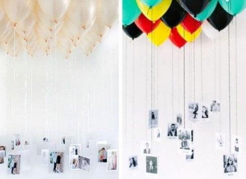 Ballonger med foton