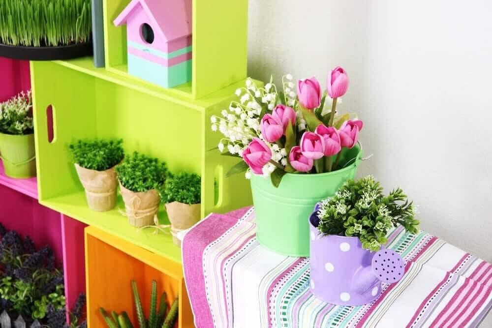 Färggranna blommor
