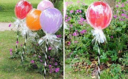 Godisklubba av ballonger.