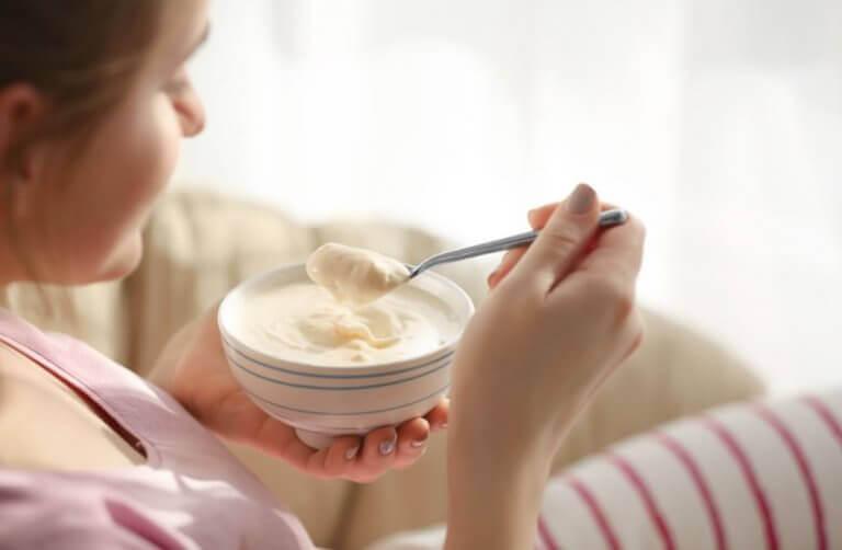 En av många frukostar för att öka muskelmassan