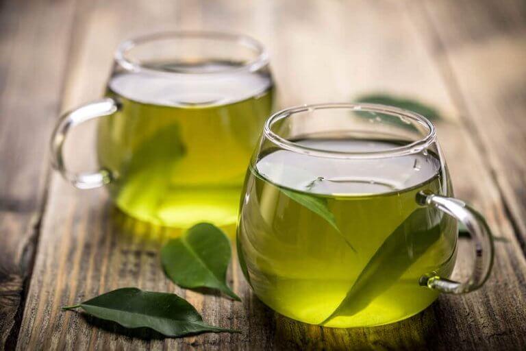 Grönt te till frukost