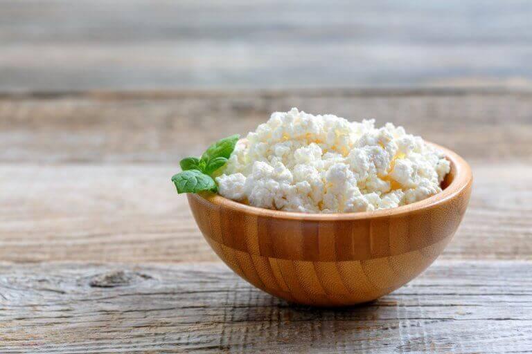 Keso till frukostar för att öka muskelmassan