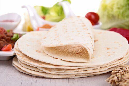 Nygräddade tortillas