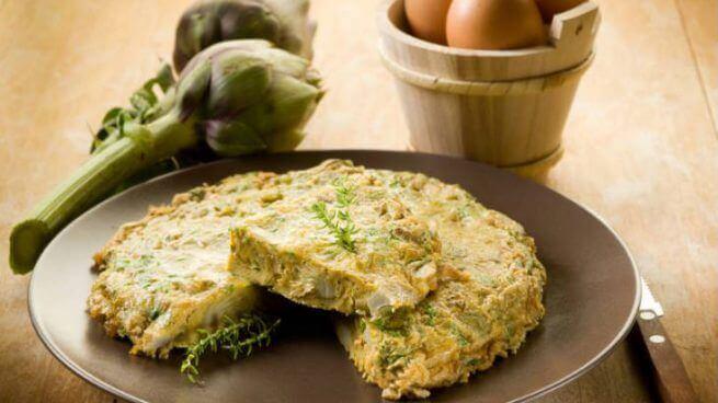 Omelett med kronärtskocka