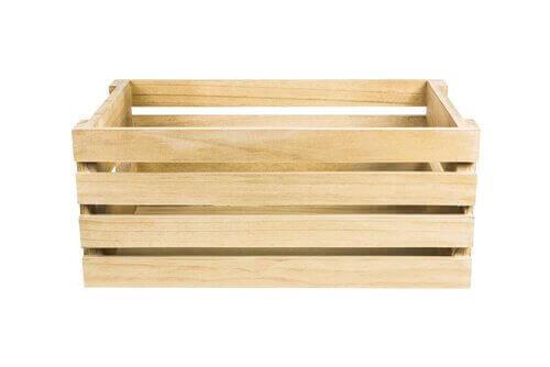 Organisera med trälådor