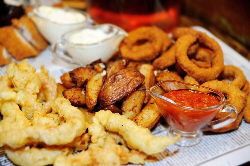 Undvik friterad mat