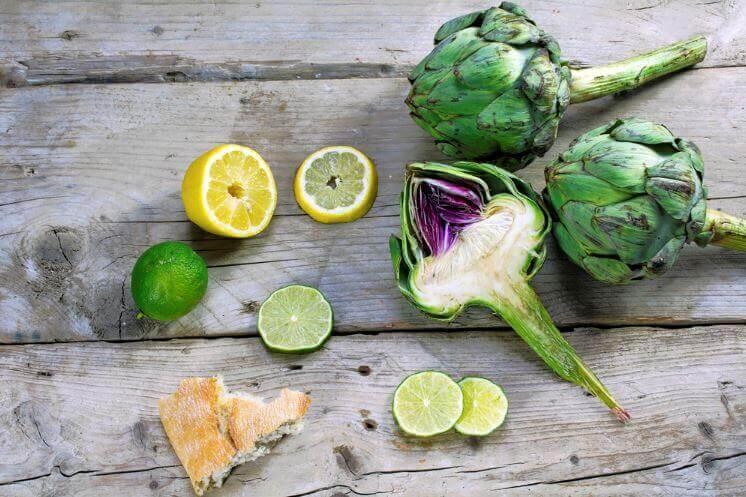 Kronärtskockor, citron och lime.