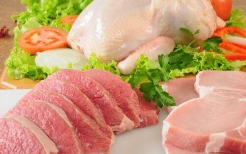 Kyckling och kött.