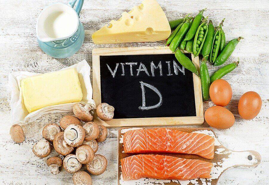 Livsmedel med vitamin D.