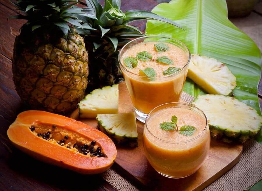 Papaya är bra mot inflammation och uppblåsthet