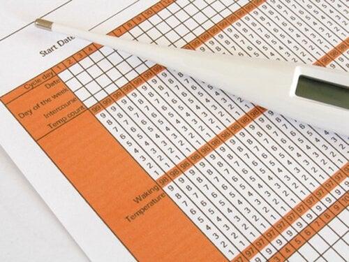 Termometer och tabell.