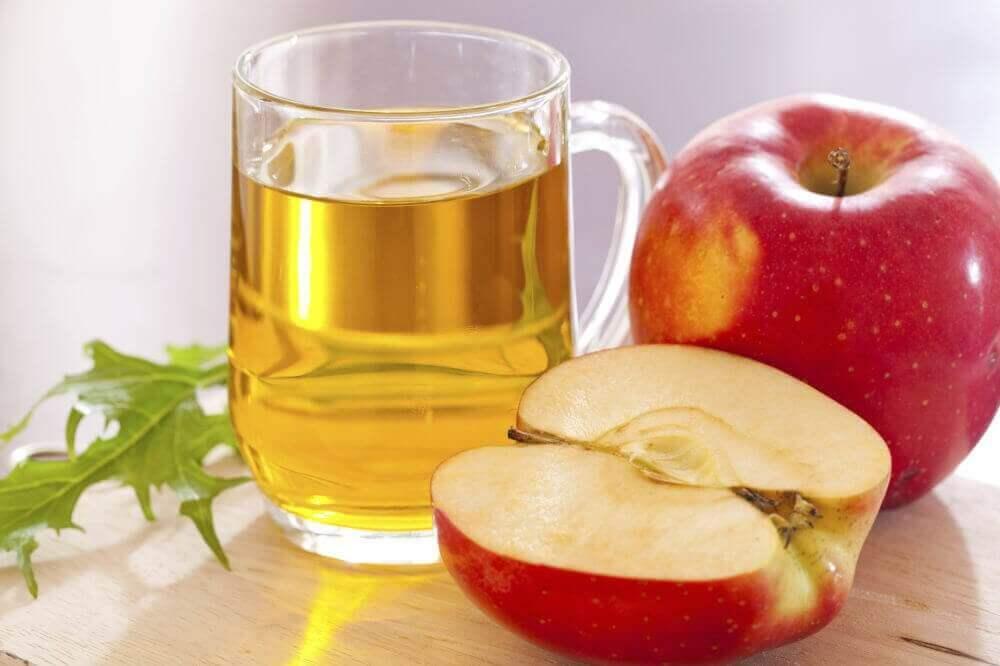 Äppelcidervinäger behandlar fettlever