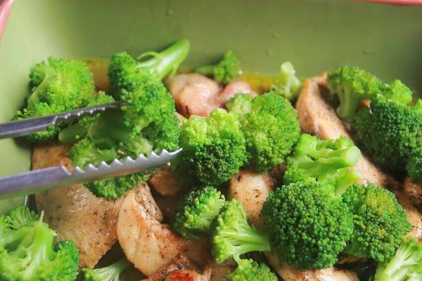Gratäng med broccoli och skinka