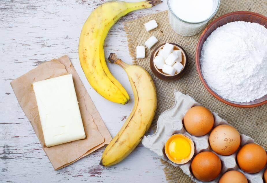 Ingredienser till banankaka