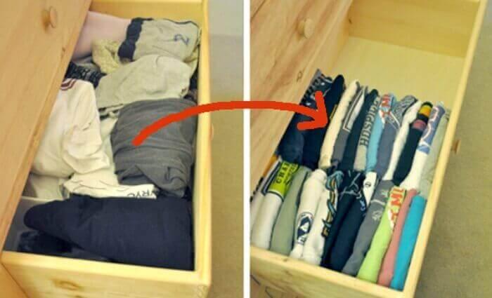 Organisera kläderna