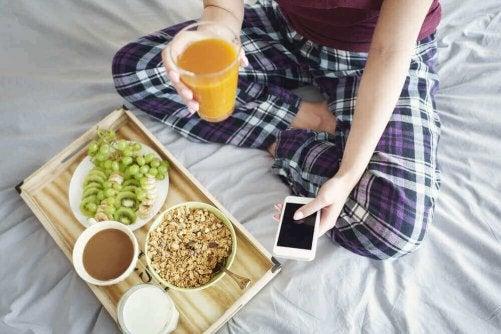 Ät en hälsosam frukost för att gå snabbt ner i vikt
