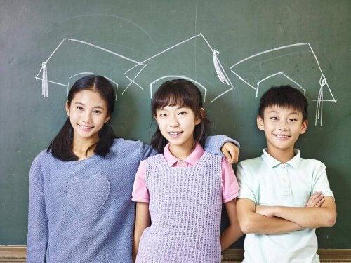 Japanska barn är väluppfostrade