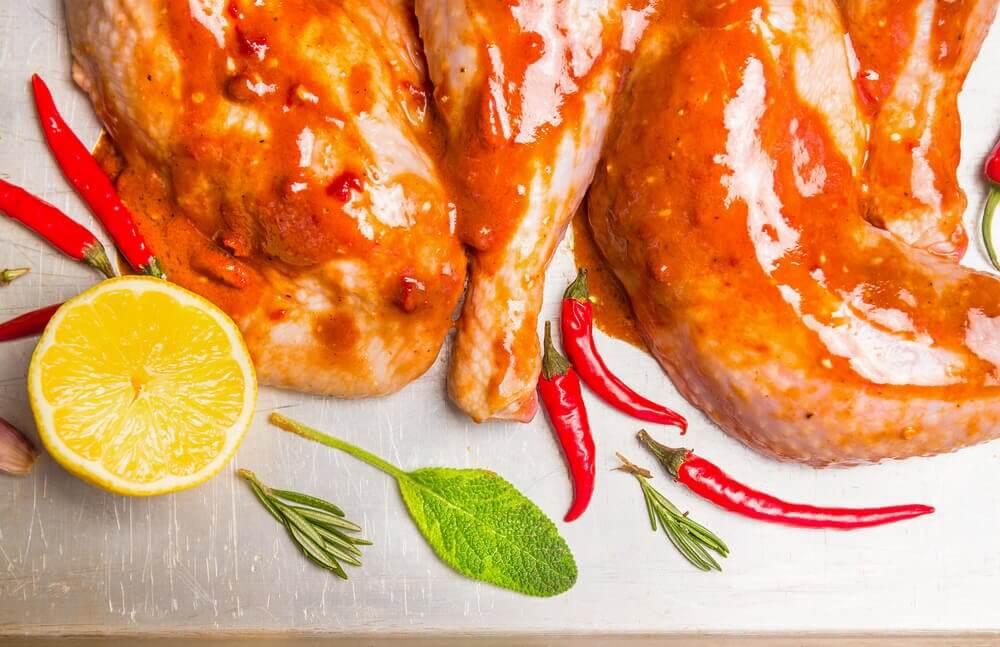Kyckling och citron.