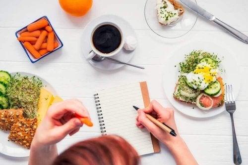 Dela upp dagens måltider