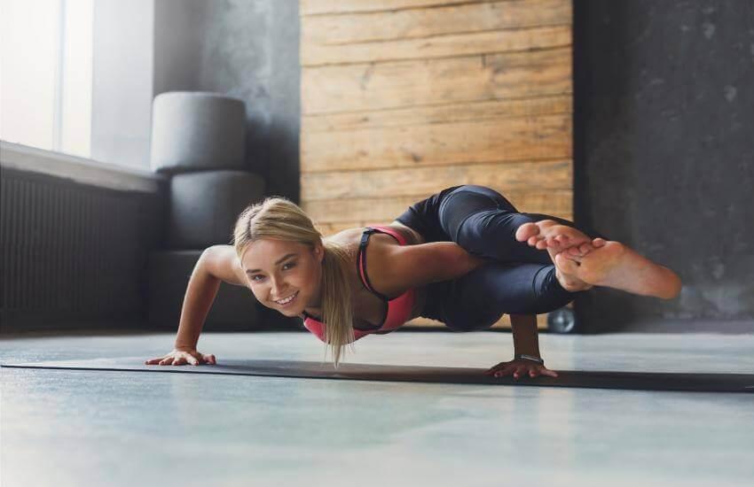 Yoga stärker musklerna