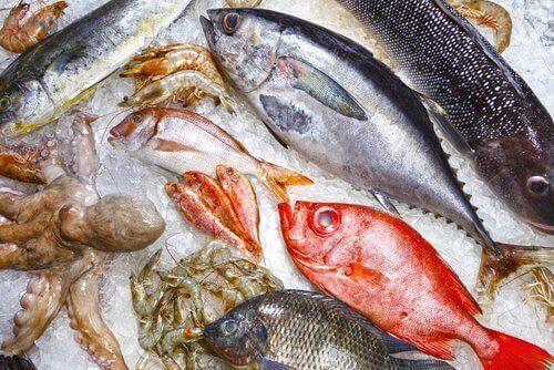Fisk och skaldjur.