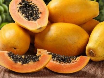Papaya är bra för känsliga magar