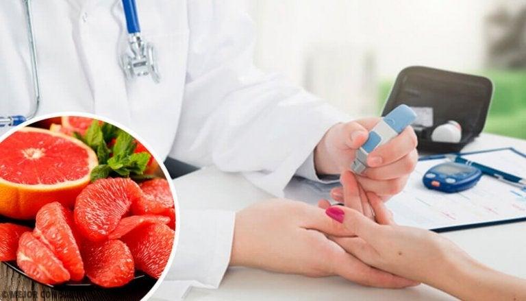 Minska risken för diabetes med grapefrukt i kosten