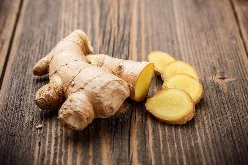 Ingefära innehåller gingerol