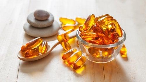 Kosttillskott med vitaminer.