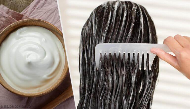Få vackert hår med hårmasker med majonnäs