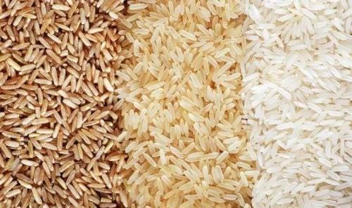 Det finns olika typer av ris